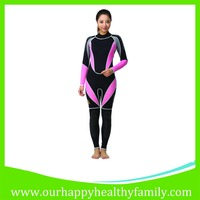 Women's Pink Full Body Warmer Suit Diving Snorkeling Swimming Neoprene Wetsuits