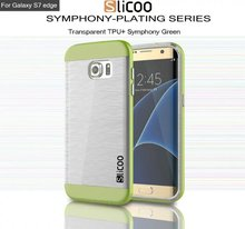 In Stock slicoo shockproof hybrid case cover for suamsung S7 Hard PC back panel soft transparant tpu bumper for sumsung S7