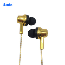 <strong>Mobile</strong> <strong>Phones</strong> Universal Gold Handsfree Headphones Golden Wired Earphone With Mic