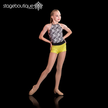 Wholesale china factory Yellow Black White Silver Jazz Dance Costume dance wear for girls
