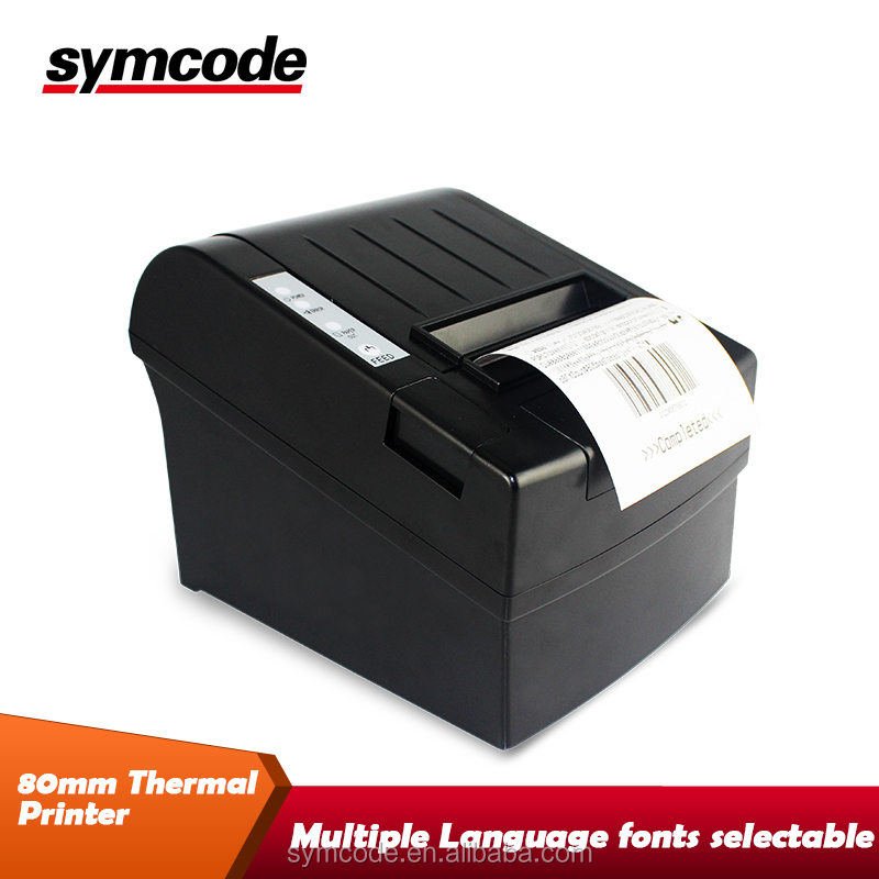 Rs232/Parallel/USB 80mm thermal label printer Wide Format Barcode Label Receipt And Ticket Printer