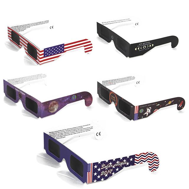 3d Glasses Paper Frame Total Observation Solar Eclipse Glasses