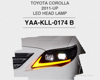 led Toyota Corolla Headlamp auto lamps and custom car light with led car headlight kit for best sells toyota corolla 2011
