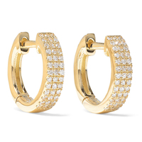 Fashion jewellery 14kt gold vermeil cubic zirconia huggie earrings