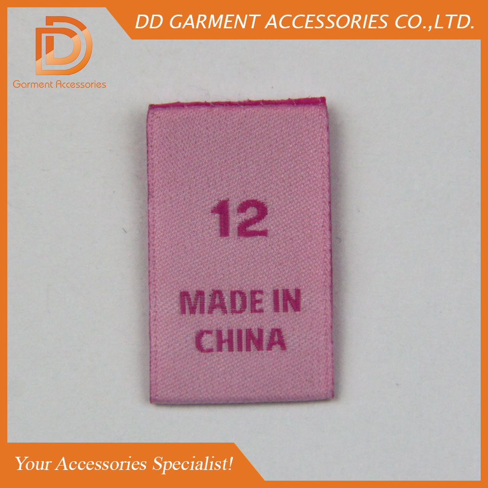 size label for clothing buy size label woven size label