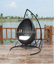 KEENLEAD rattan swing chair outdoor patio swing egg chair furniture