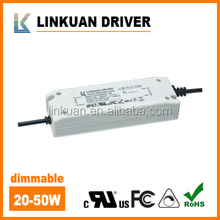 100-132VAD 88% efficiency UL/FCC dimmable 45w led driver for panel light