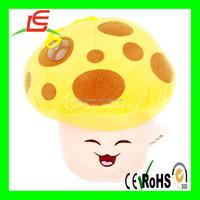 Yellow plush stuffed mushroom Animal Plant vs Zombies toys