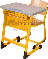 Modern Student Desk And Chair Single School Desk And Chair Malaysia MDF Table Top School Furniture