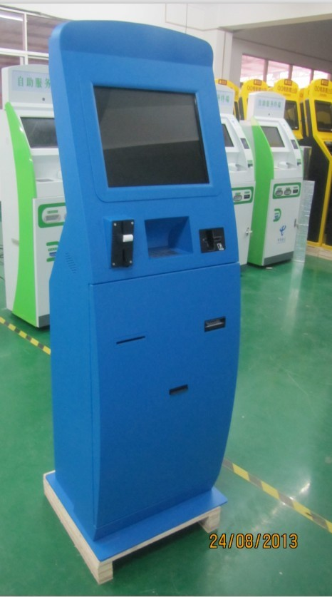 Automatic Self Service Payment Kiosk / Card Reader Cash Payment Kiosk / Cash Payment Machine