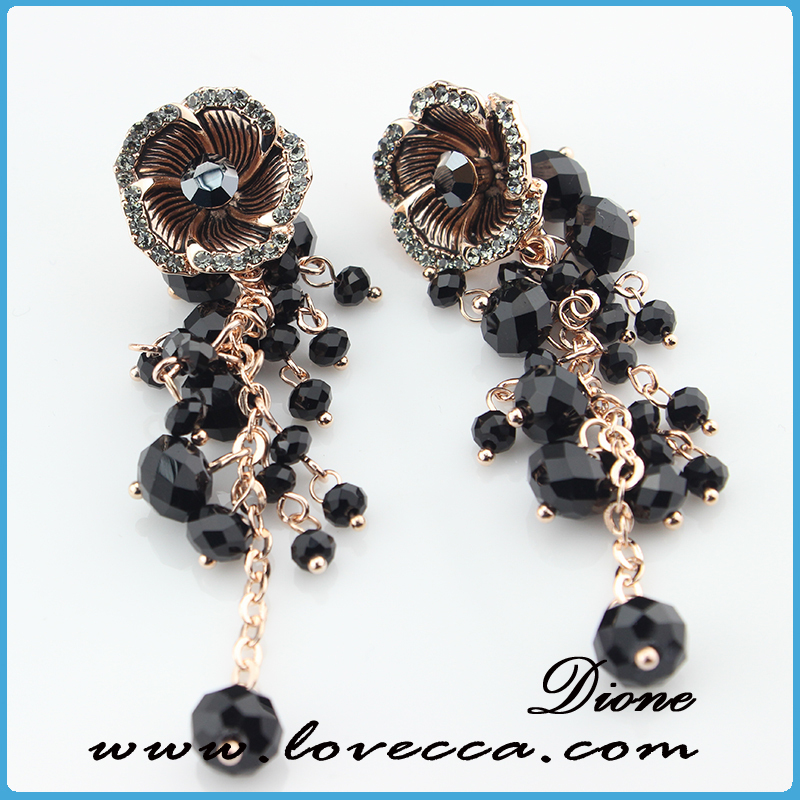 New Products vintage jewelry shine earring	,crystal lady earring for decor