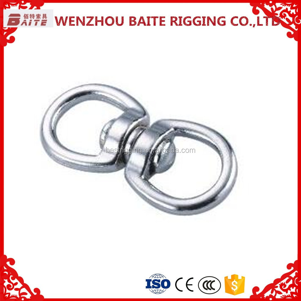 Bag Parts & Accessories Zinc and Alloy Double Eye Swivel Bolt galvanized snap hook
