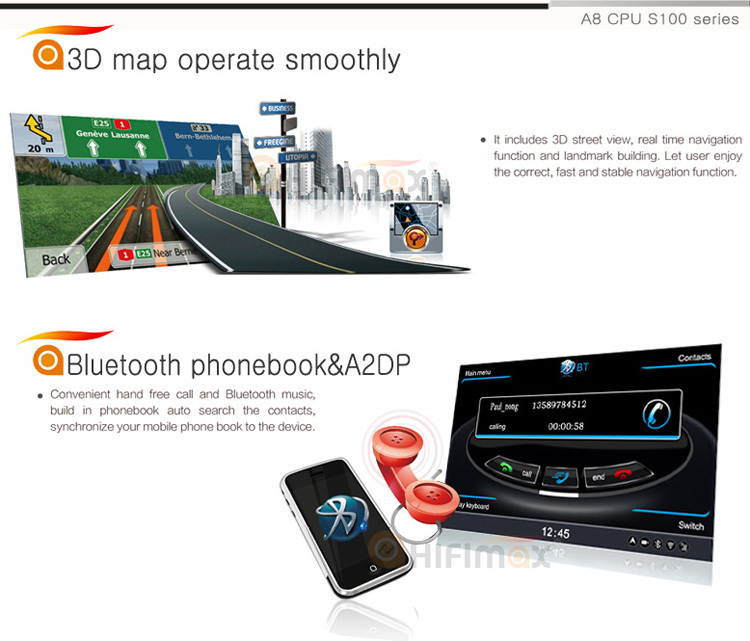 Hifimax car navigation for VW New Bora 2013 WITH A8 CHIPSET DUAL CORE 1080P V-20 DISC WIFI 3G INTERNET DVR