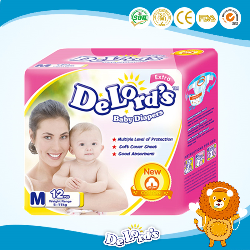 Sweet disposable baby diaper for africa market