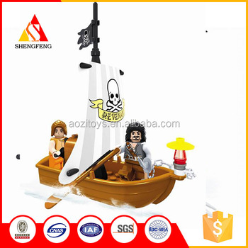 new kids game ABS plastic toy blocks for the pirates