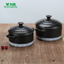 Professional products japanese black cooking ceramic big casserole