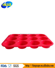 DIY 12 Cavity Silicone Bakeware Silicone Cake Pan Baking Tools round Shape Madeleine Cookie Mold Biscuit Mold Cookie Cutter