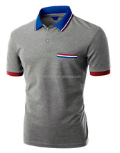 high quality contrast color custom mens polo shirt from oem factory direct clothing wholesale