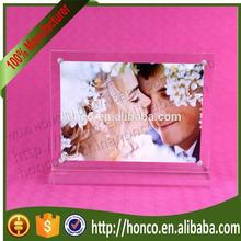 "High Quality 7"" Clear Color Acrylic Magnetic Photo Frames"
