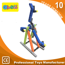 2017 Promotion gift for kids plastic assembly intelligen toy molds