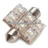 auto lamp festoon 36mm 6 flux led car bulb,led bulbs car,led lights for cars interior