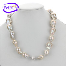 15*20mm huge large size irregular baroque freshwater different design pearl necklace