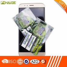Custom print all touch screen devices use smartphone sticky microfiber screen cleaner wholesale