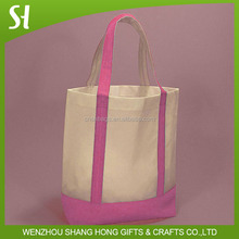 OEM Good Quality Hot Stamping 10OZ Canvas Tote Bag With Bottom,Women Large Capacity Shopping Bag