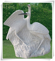Stone Red-crowned Crane Statue For Modern Garden Decorative