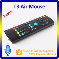 Universal remote control T3 2.4G IR learning wireless air keyboard for android tv box