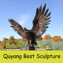 large size outdoor bronze flying eagle sculpture for yard decoration