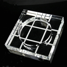 Promotional Giveaway Gift K9 Clear Crystal Ashtray