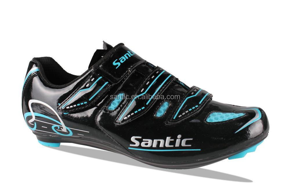 2017 OEM road cycling shoes 3 straps with SPD system