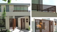 CNC aluminum panel metal perforated panel metal fence gates