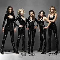 Wholesale Women Black Full Body Tight Sexy Vinyl Pvc Catsuit Latex Clothing