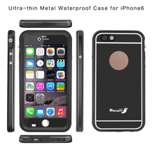 Metal Aluminum Bumper Gorilla Glass Phone Waterproof Case for iPhone 6s 6