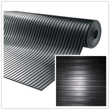 NON SLIP rubber flooring,Wide ribbed rubber matting,high quality rubber mat roll