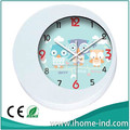 lovely cartoon design plastic wall clock for children gifts