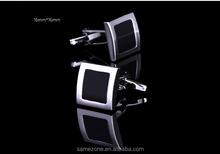 High Quality French Style Business Men Cufflinks Square Shaped Cuff links Brass Stamping Gentalman Custom Enamel Cuffl