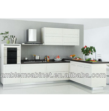 Country Style Modular White China Pvc Kitchen Cabinets Factory