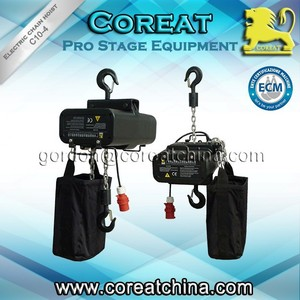 380v 220v 415v 1 ton 2 ton stage steel aluminum electric chain hoist 25 meter chain for hang truss motor CE
