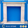 Good quality simple type marble fireplace mantel for sale