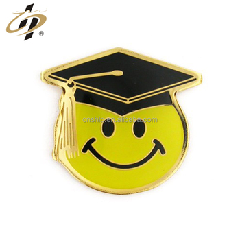 Factory supply cheap custom logo gold metal lapel pins for graduation
