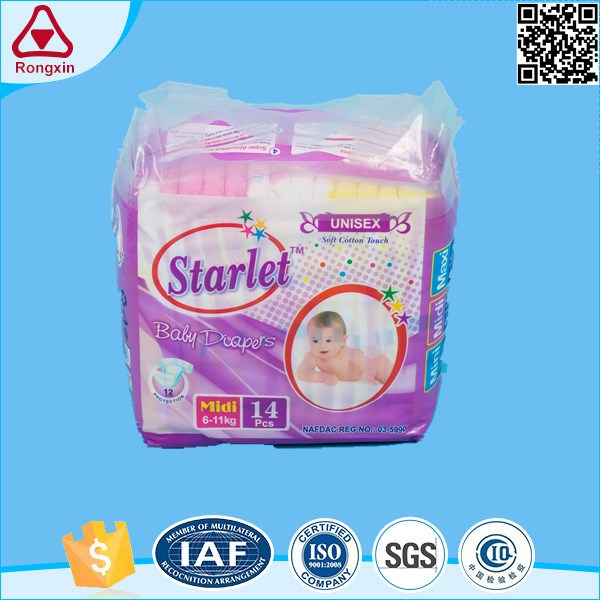 ISO9001 Factory Breathable Disposable Sleepy Baby Diaper Market