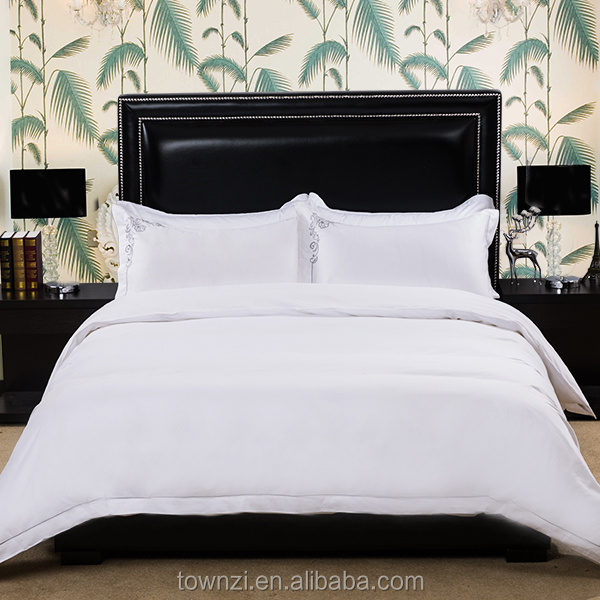 2017 New Arrival Chinese Factory Guest Room Bed Sheet Linen for Star Hotel