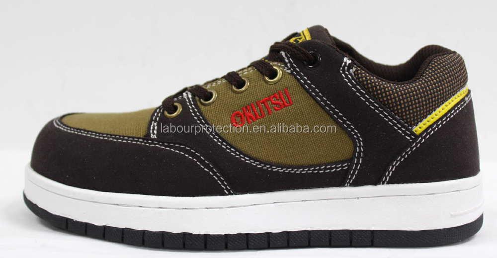 skateboard sports style canvas safety shoe en iso20345