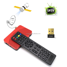 FTA Receptor de Satélite Digital DVB-S2 + IPTV Combo TV Set Top Box PVR apoyo CCCAM Biss clave 1080 P + USB Wifi <span class=keywords><strong>Dongle</strong></span> Mini Tamaño