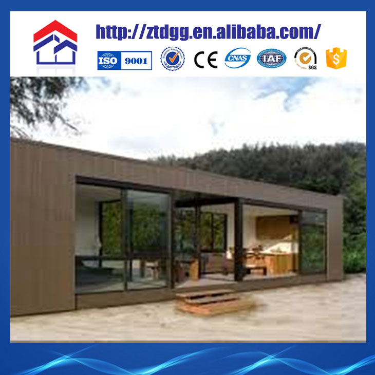 Movable container house with corrugated ducts for prestressing