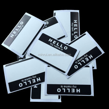 Writable Any Color Hello My Name Is Name Badges Eggshell Graffiti Sticker