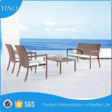 4 Seat Contemporary Grey Rattan Outdoor Garden Furniture Dining Set with Table RB515